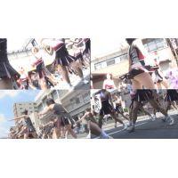 祭りでのチアガールパレ—ド演技vol.1 vol.2セット