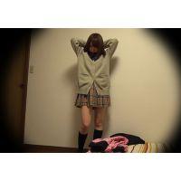 ☆K3(○8歳)るい シェアハウスの入居者�-2 着替えを盗撮(自室) ガサツな巨乳ギャル