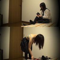 ☆K1(○6歳)さつき シェアハウスの入居者�-2 着替えを盗撮(部屋) 大和撫子系ロリフェイス
