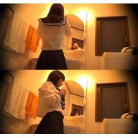 ☆K1(○6歳)ゆみか シェアハウスの入居者�-1 着替えを盗撮(脱衣所) 超小柄ロリフェイス