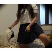 プリケツちゃん着替え盗撮 ☆K2(○7歳) シェアハウスの入居者�-2 着替え盗撮映像(寝室)