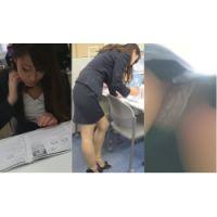 「ジーコレ?ってなんのサイトだよ…」同僚女子を公開処刑する脚線美OLの逆さ・対面・しゃがみM字…悩殺ローアングル盗撮