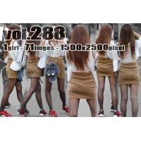 vol288-黒タイツの美脚と魅力的なタイトミニくっきり食い込みPライン
