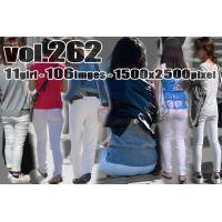 vol262-ヒップラインと食い込みが際立つむち尻ホワイトパンツ