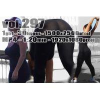 vol297-レギンスを履いた突出す豊満ヒップから大胆透T(画像&動画)
