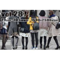 vol287-魅力的なむっちり美脚の黒タイツ