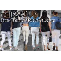 vol273-ぴたっと美尻に食い込むタイトなホワイトパンツ