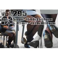 vol295-ザラザラ素材の黒ストを履くミニスカ舶来お姉さん(画像&動画)
