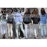 vol293-魅力のラインを浮かばせるぴちぴちホワイトパンツ