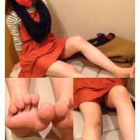 【個人撮影】 JKみなほちゃんのすっぱいにおいが伝わる生足とパンツ 動画・画像セット