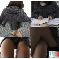 図書館で看護の勉強をする激カワ女子学生を盗撮