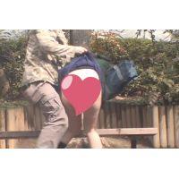 後追い「鬼畜映像」 めくって逃げろ! 女子高生スカートめくり パンチラダッシュ!  Vol11