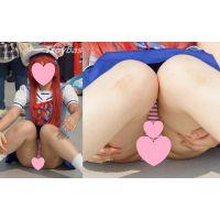 【高画質】エロコスプレイヤー�定番M字パンチラ&ブルマ!2人娘♪