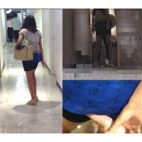 カメラを仕込んだ個室にはいってきた女の子を背後から痴漢 進撃の痴漢 Part42