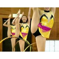 Female College Students Rhythmic Gymnastics Performance
