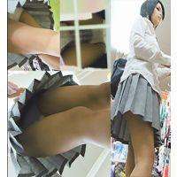 【制服jk】縦横に交わる縞パンとふわり広がるスカートの最高エロ動画