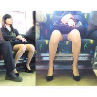電車内の視線を独占する超美人OLのモロ見えパンスト越しパンチラ【拘束列車は覗き放題No,59】