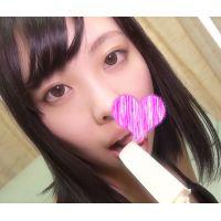 ☆Kモデル みさきちゃんシリーズ� 棒アイス舐め マイクロビキニ(黒) フェラを真似てしゃぶる