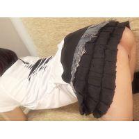☆Kモデル さやかちゃんシリーズ� 制服→変形マイクロ水着(黒) きわどい水着でポージング撮影