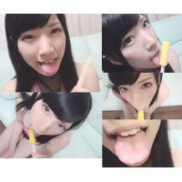 ☆Kモデル りなちゃんシリーズ� 棒アイス舐め エナメルハイレグ(ピンク) 擬似フェラで汁まみれ