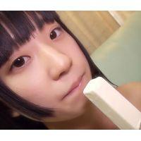 ☆Cモデル かりんちゃんシリーズ� 棒アイス舐め マイクロビキニ(黒) フェラを真似てしゃぶる