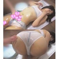☆Cモデル るみちゃんシリーズ� ローション塗られ 綿パン(白) スケスケ下着でローション
