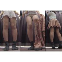かわいいワンピから見えるパンツがエロいティーンの生着替え 着替えの盗撮 vol.118