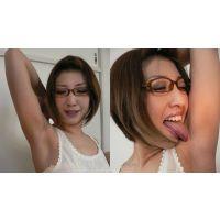 わきなめINDEX スタイルの良すぎる眼鏡美女さえちゃんのノースリーブわきなめ!編【電子写真集】