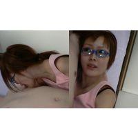 乳首舐め手コキ(仮称) 恵那先生のタコのような吸い付き眼鏡乳首舐め手コキ!編