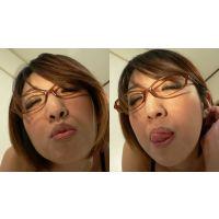 【フルHD】キス顔マニア 優しいさえちゃんの下向き舌レロレロキス顔!編