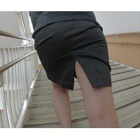 【HOT-MOVIE069】OLスカートスーツグレーHIP