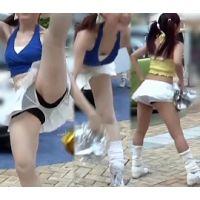 【HD動画】可愛いルーズソックスのチアガール・ハイキック