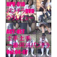 NPV-018 パンチラDVDウラレビュー ACT-NET 土手!土手!一級河川パンチラVol.4-Vol.7