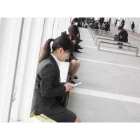 就活応援☆リクルートスーツで頑張ってる女子大生画像 JD 新人OL リクスー(16)