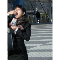 就活応援☆リクルートスーツで頑張ってる女子大生画像 JD 新人OL リクスー(19)
