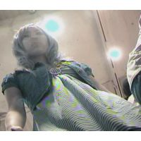 逆さ撮りエロいパンチュ前屈み丸見え店内をブラブラ【パンチラ動画】macro 041