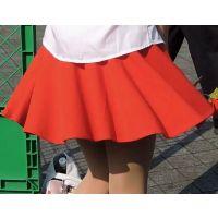 コスプレ2016夏黒髪ロング赤ミニスカート生脚【動画】イベント編 2864