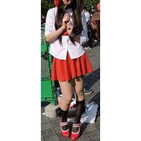 コスプレ2016夏赤色ミニスカ生脚全身を撮り続けました!【動画】イベント編 2860