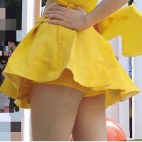 コスプレ2016夏全身黄色スカートの中も黄色おっぱい谷間【動画】イベント編 2905