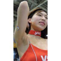 2015モーターサイクルショーうっすらワキ毛コンパニオン【動画】イベント編 1257