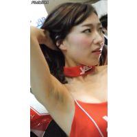 2015モーターサイクルショーうっすらワキ毛が生えてますw【動画】イベント編 1247
