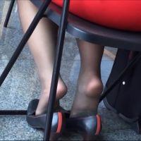 【動画】黒ストッキングのOL26