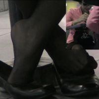 【動画】黒ストッキングのOL6