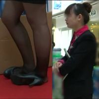 【動画】黒ストッキングのOL30