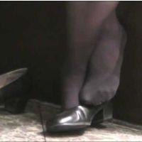 【動画】黒タイツのOL11