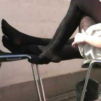 【動画】黒タイツのコンパニオン10