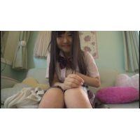 女子●生ゆうかちゃんの自画撮りオナニー
