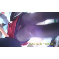ワゴンガールの生パンチラ52-2_赤外線(A)
