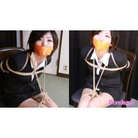 赤坂奈菜写真集 - 女教師の受難 - オレンジ色のテープギャグ