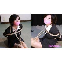 赤坂奈菜写真集 - 女教師の受難 - ピンク色のテープギャグ